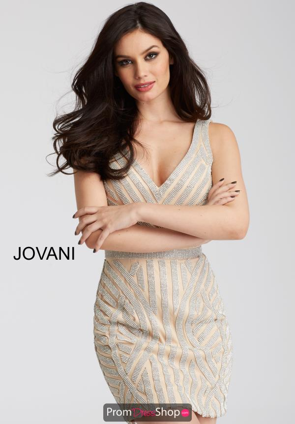 Jovani Cocktail Fitted Dress 55928