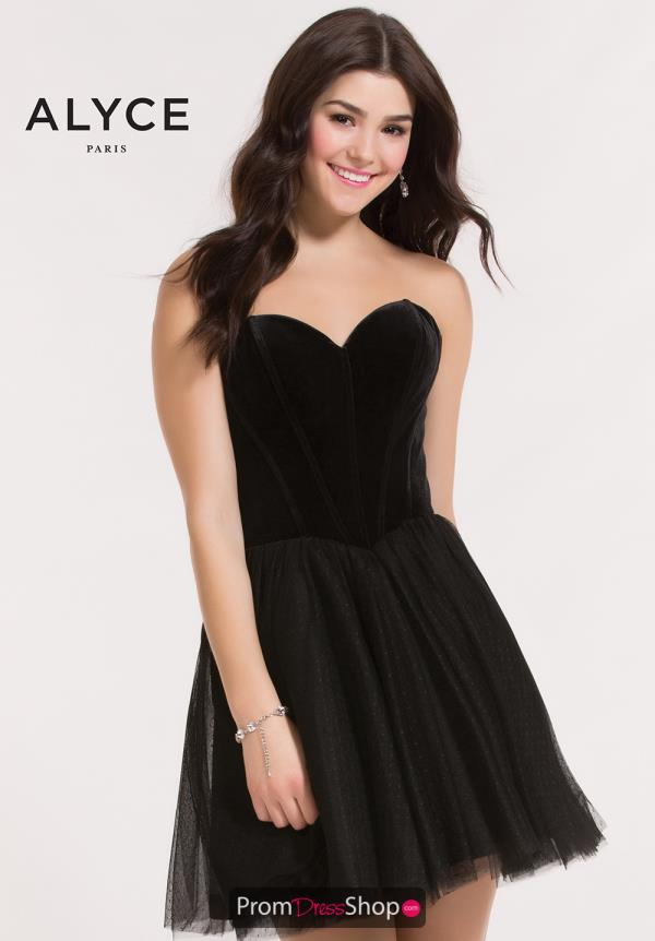 Alyce Short Black Dress 2635