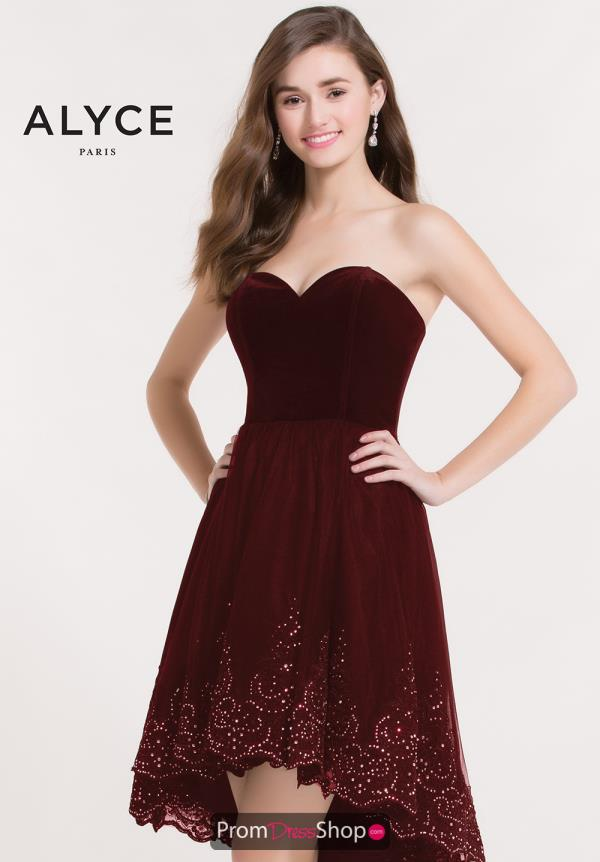 Alyce Short Strapless Dress 2636