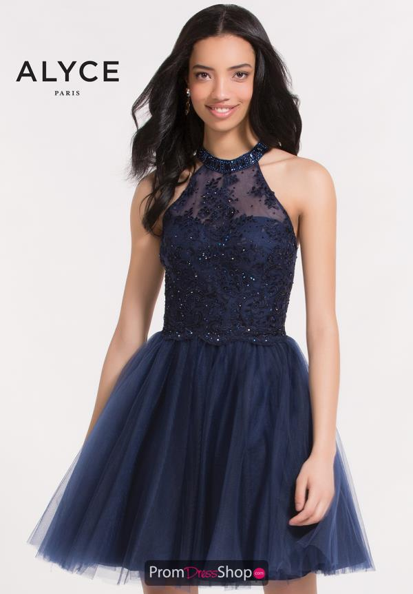 Alyce Short Beaded A Line Dress 2644