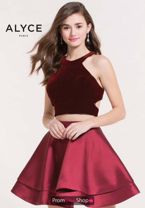 Alyce Short Red Two Piece Dress 2648