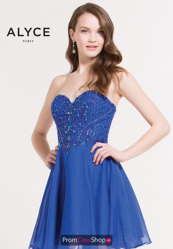 Alyce Short Beaded A Line Dress 3722