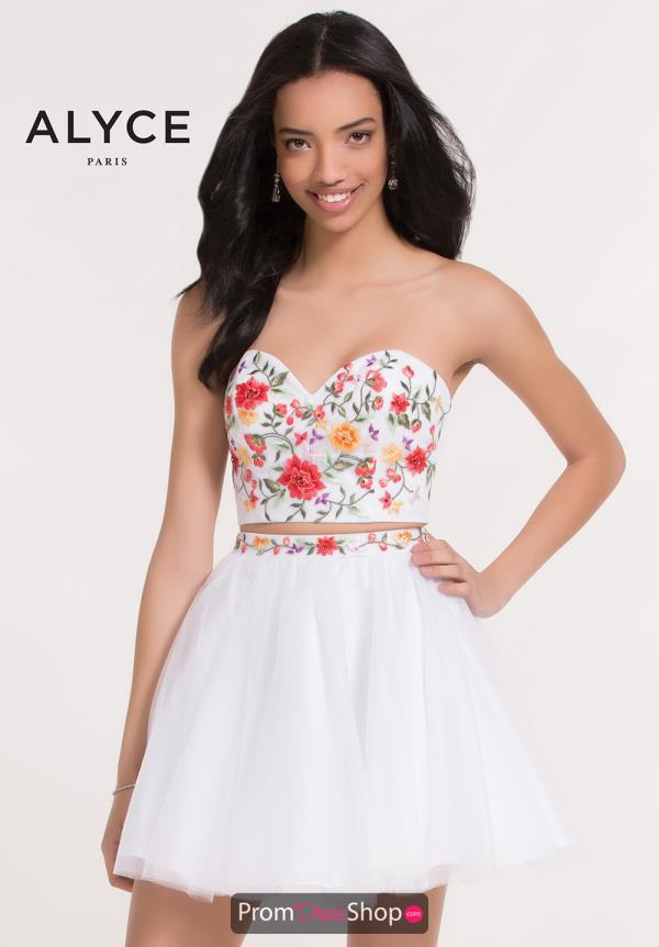 Alyce Short Strapless A Line Dress 3740