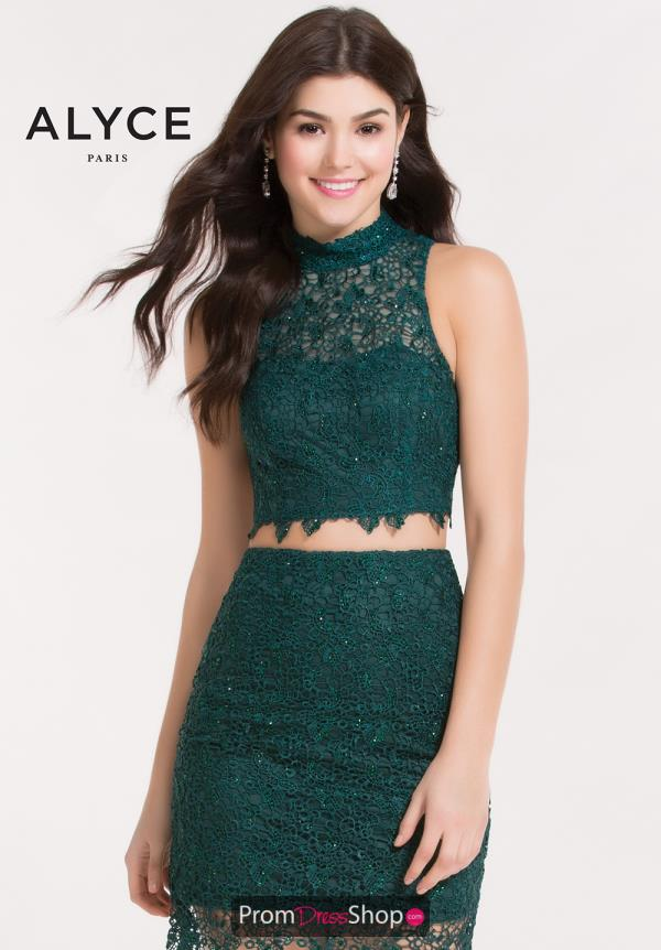 Alyce Short Two Piece Lace Dress 4457