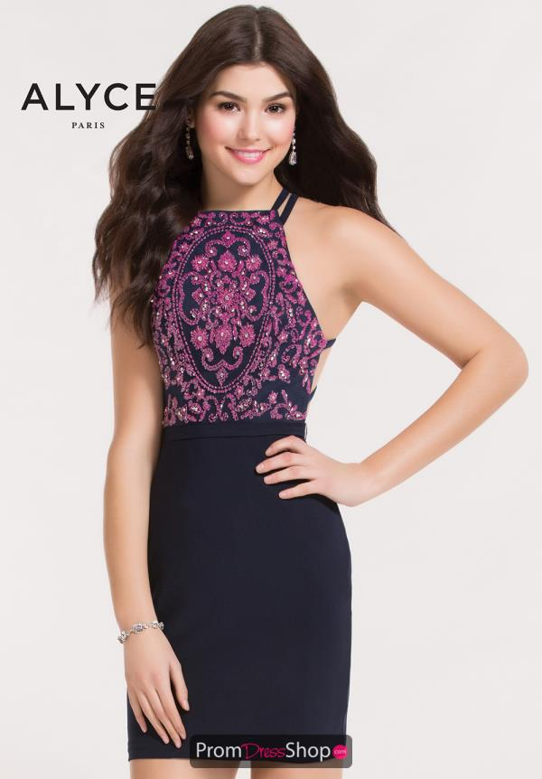 Alyce Short Fitted Dress 4475