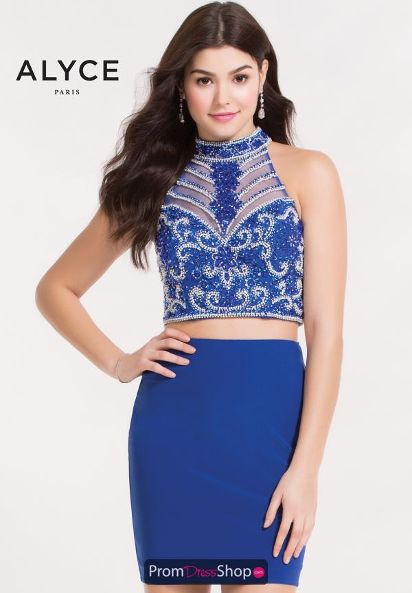 Alyce Short Fitted Beaded Dress 4479