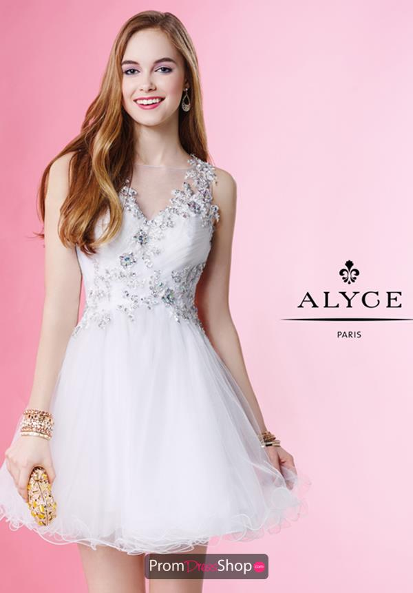 Alyce Short A Line Net Dress 1053