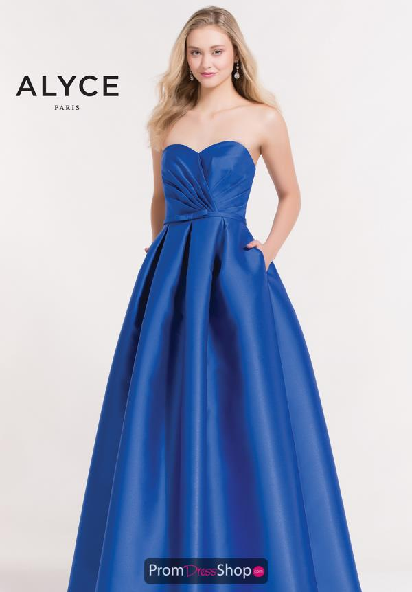 Alyce Paris Full Figured Sweetheart Dress 6881