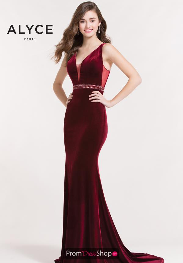Alyce Paris Long Fitted Dress 8026