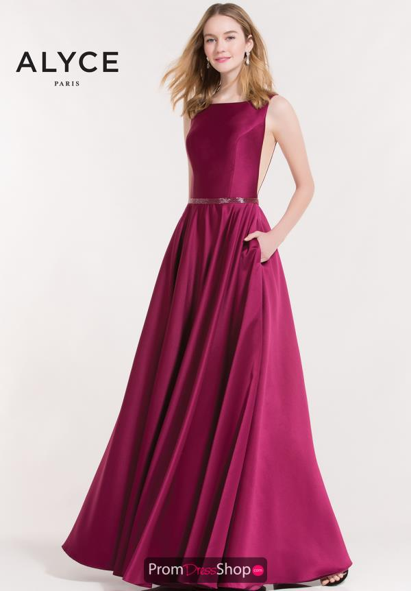 Alyce Paris Long A Line Dress 8030