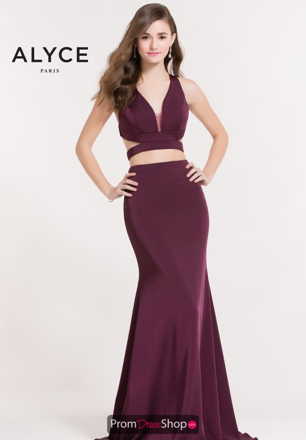 Alyce Paris Long Two Piece Dress 8032