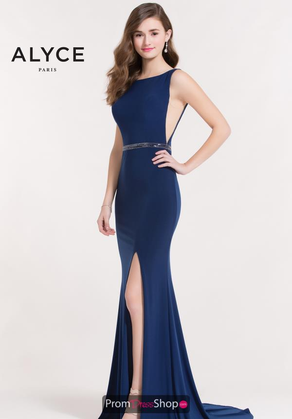 Alyce Paris Long Fitted Dress 8039