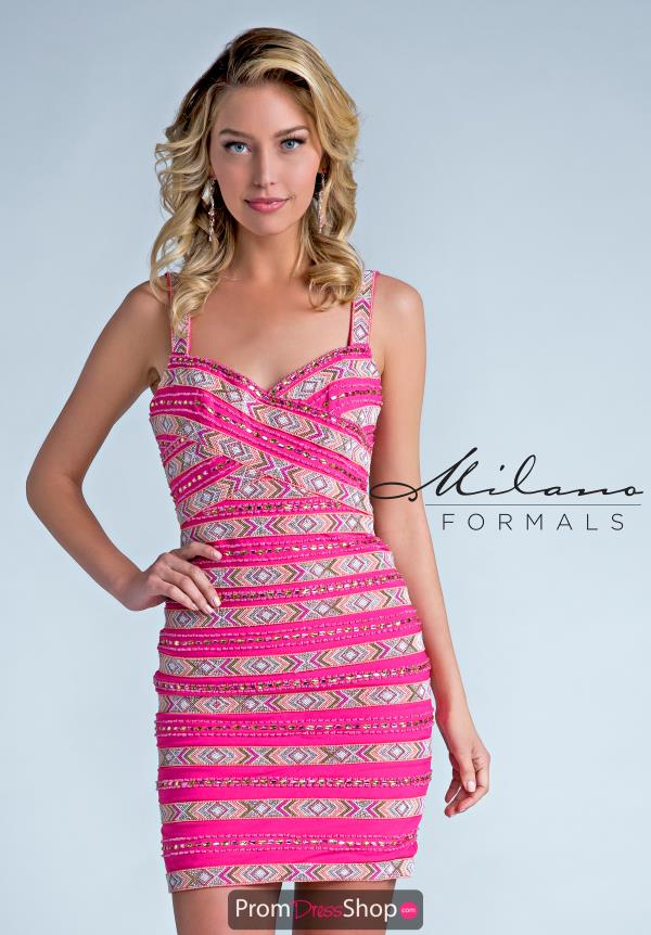 Milano Formals Fitted Short Dress E2227