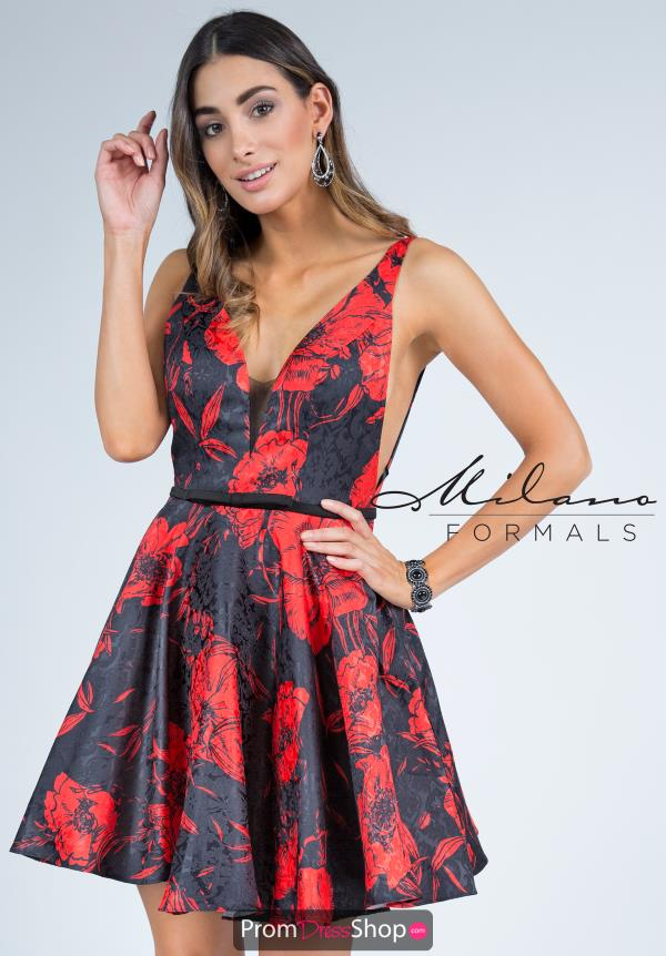 Milano Formals Short A Line Dress E2243
