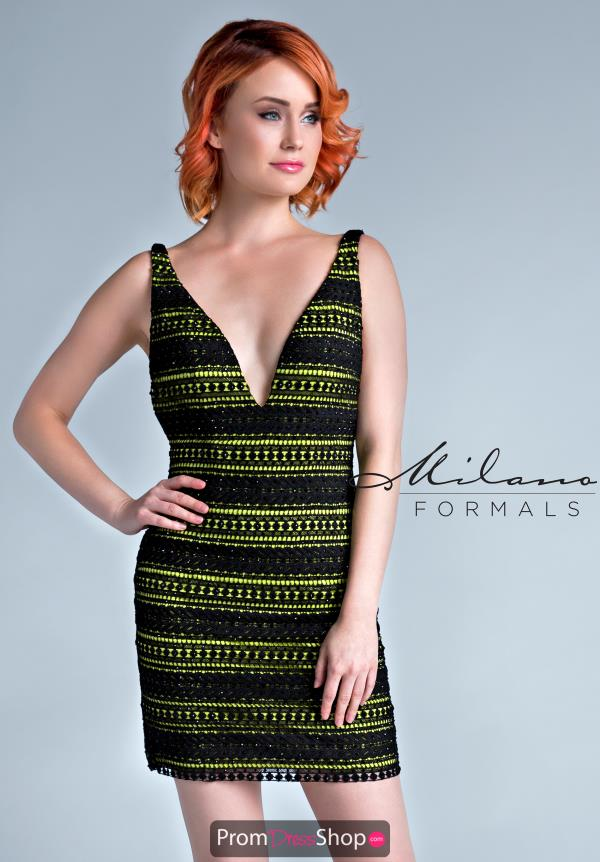 Milano Formals Short Fitted Dress E2245