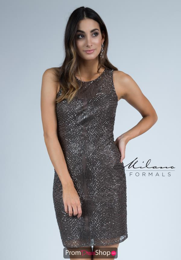 Milano Formals Short Fitted Dress E2251