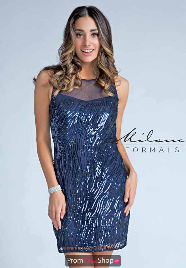 Milano Formals Fitted Short Dress E2254