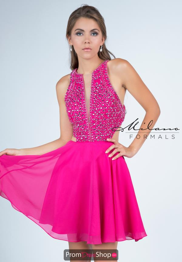 Milano Formals Pink Short Dress E2255