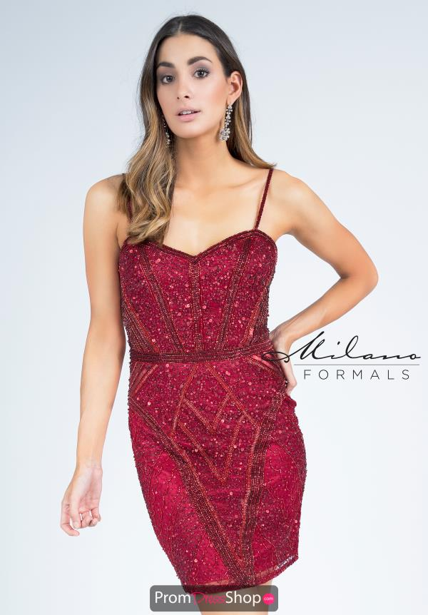 Milano Formals Fitted Short Dress E2257