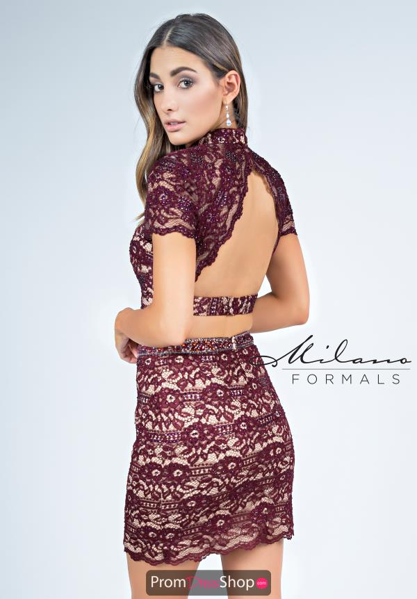 Milano Formals Two Piece Lace Dress E2259