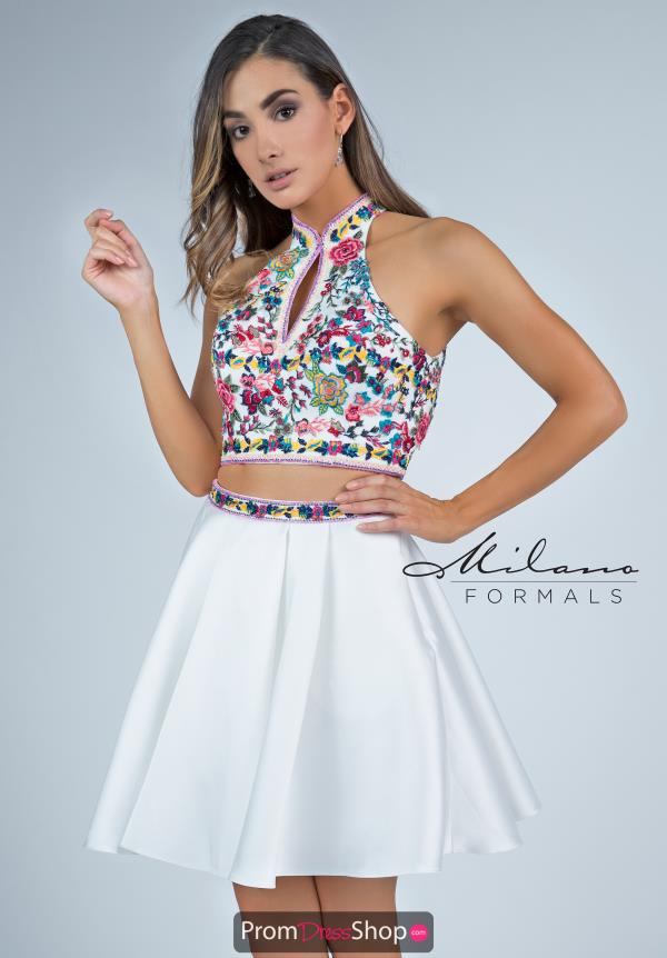 Milano Formals Two Piece A Line Dress E2272