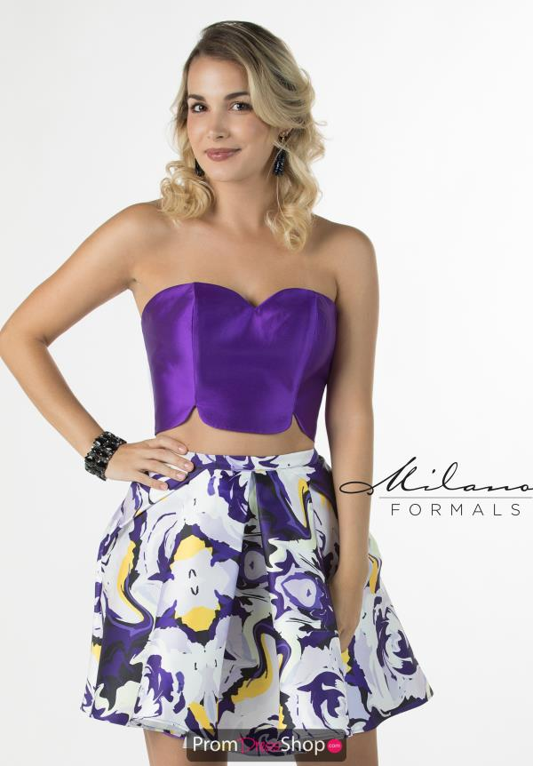 Milano Formals Purple Short Dress E2281