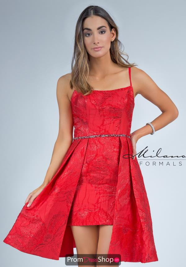 Milano Formals Fitted Short Dress E2292