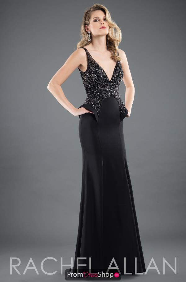 Rachel Allan Long Beaded Dress 8275
