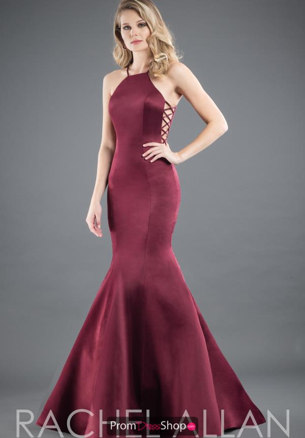 Rachel Allan Satin Long Dress 8280