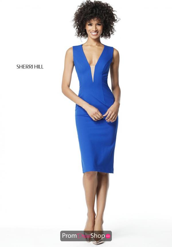 Sherri Hill Short V- Neckline Dress S51335
