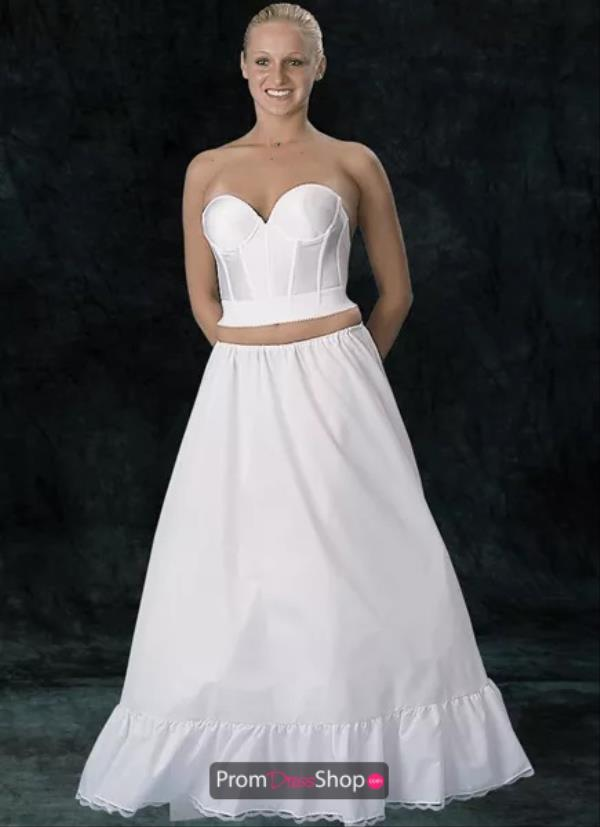 White Tulle Floor Length Drawstring Slip Size 70