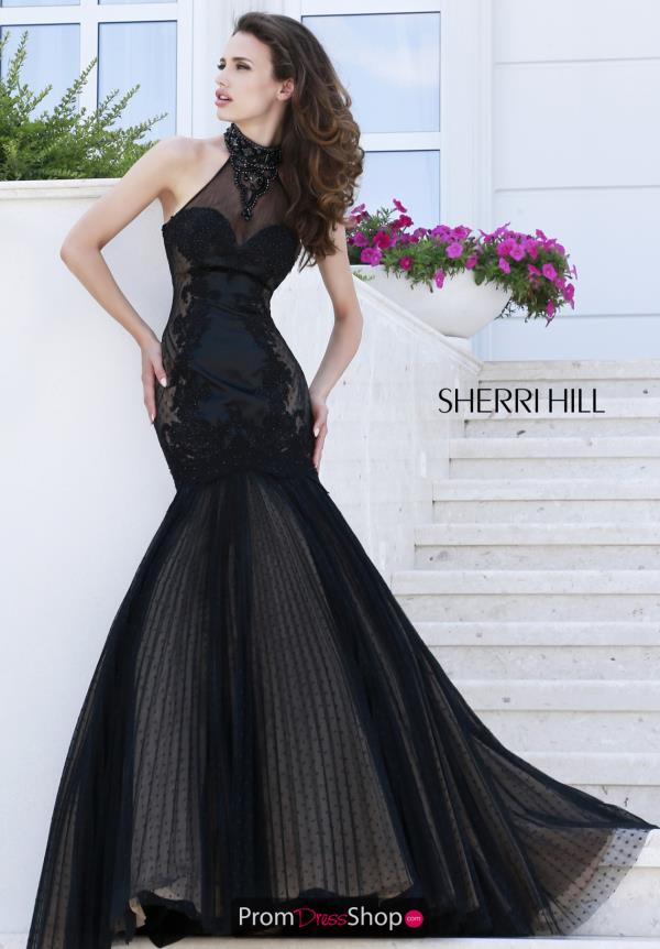 Sherri Hill Halter Top Fitted Gown 32085