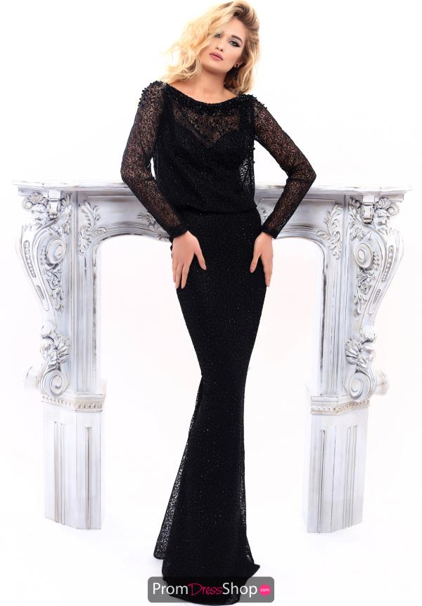 Tarik Ediz Fitted Long Dress 93312
