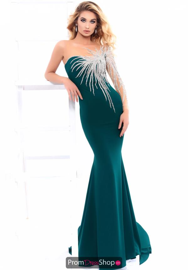 Tarik Ediz Long Beaded Dress 93332