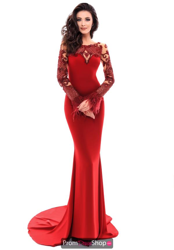 Tarik Ediz Sleeved Fitted Dress 93337
