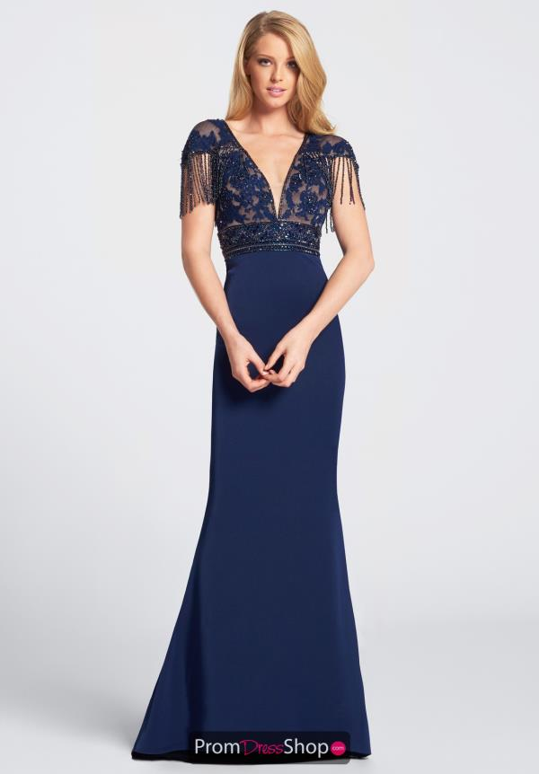 Ellie Wilde Prom V-Neck Dress EW21718