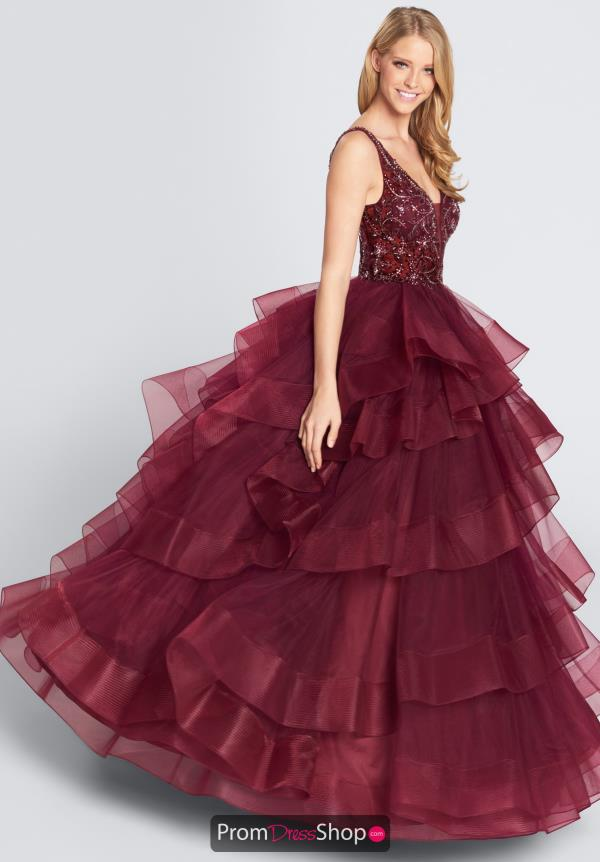 Ellie Wilde Prom V-Neck Ball Gown Dress EW21726