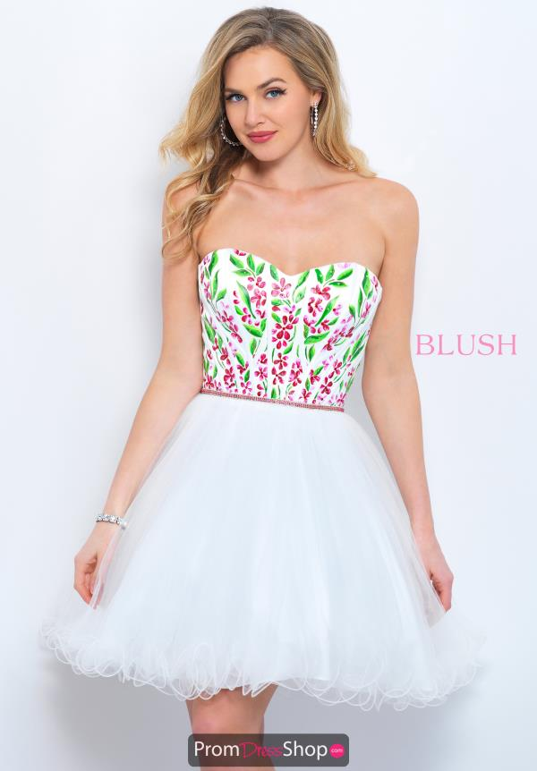 Blush Strapless Short Dress 11362