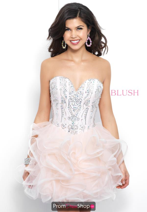Blush Short Strapless Dress 11380