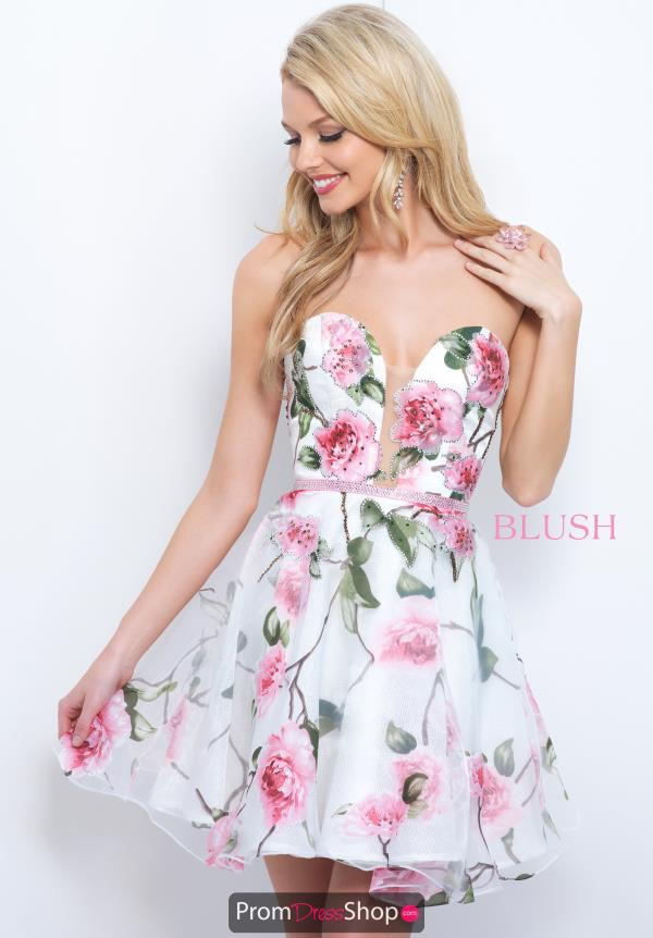 Blush Strapless A Line Dress 11381