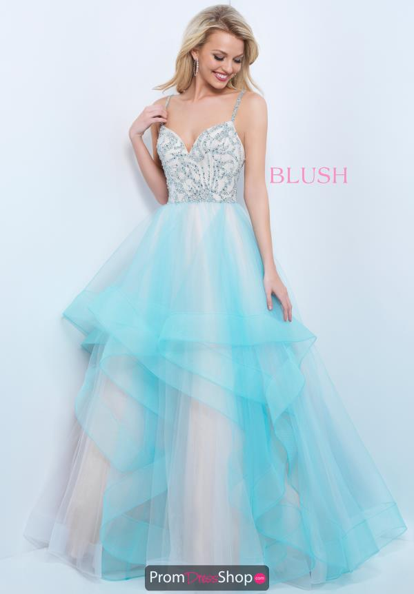 Blush Tulle Skirt A Line Dress 11394