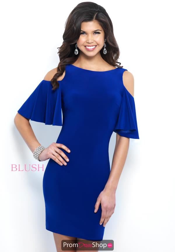 Blush Short Fitted Sleeved Dress C416