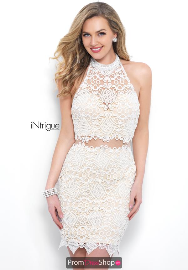 Intrigue by Blush Lace Fitted Dress 353