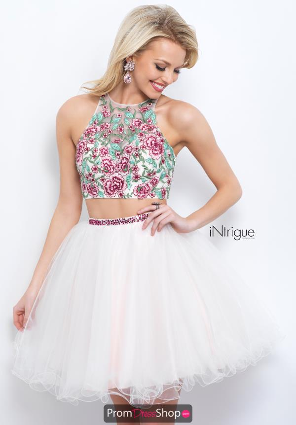 Intrigue by Blush Beaded Short Dress 359