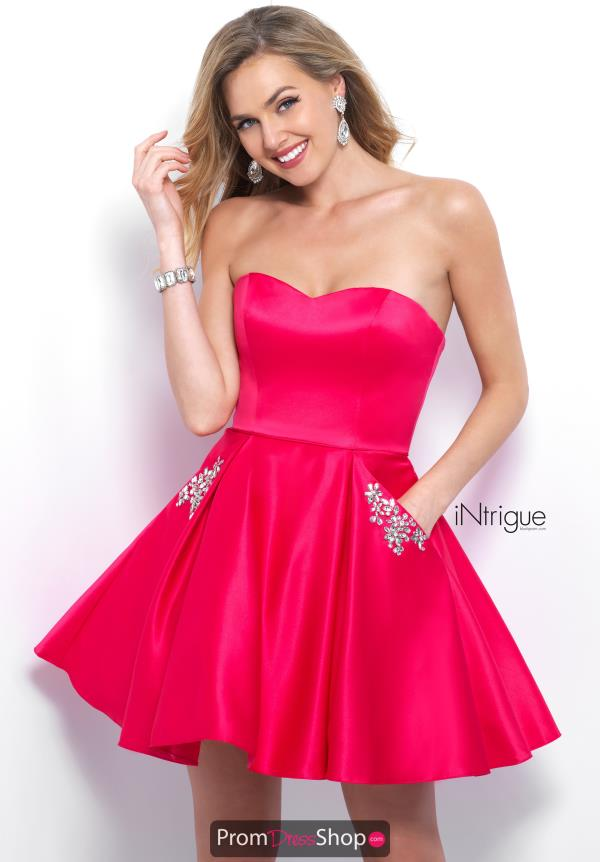 Intrigue by Blush Short A Line Dress 363