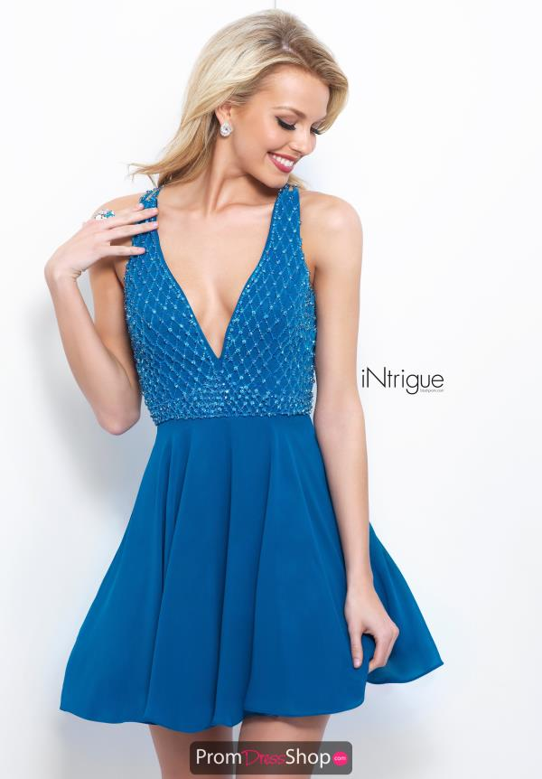 Intrigue by Blush Short A Line Dress 366