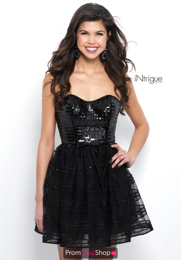 Intrigue by Blush Short Strapless Dress 370