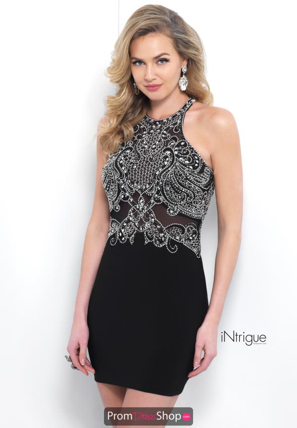 Intrigue by Blush Short Beaded Dress 371