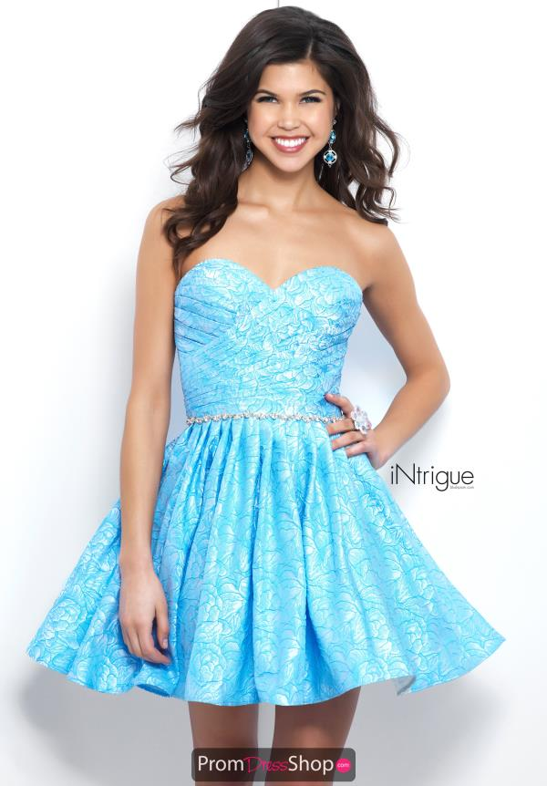 Intrigue by Blush Blue Sweetheart Neckline Dress 375