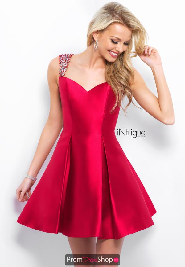 Intrigue by Blush Short Two Straps Dress 378